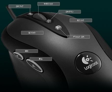 マウスの追加ボタン例