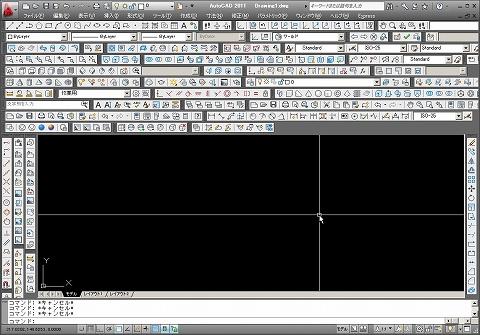 オートキャド(AutoCAD)の画面例